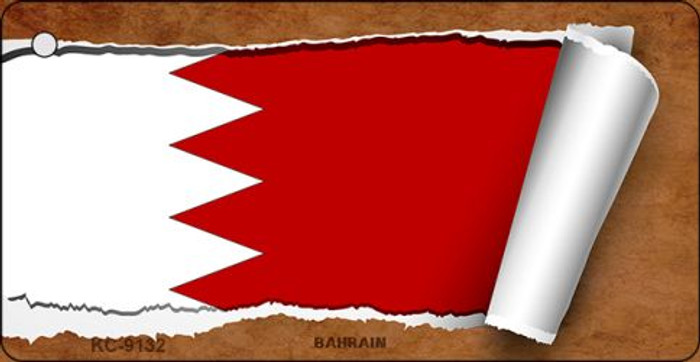 Bahrain Flag Scroll Novelty Key Chain
