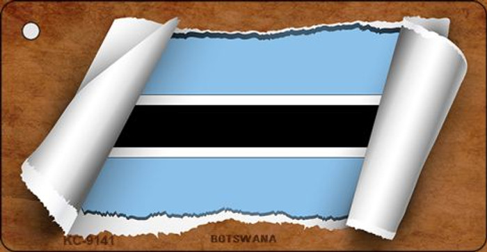 Botswana Flag Scroll Novelty Key Chain