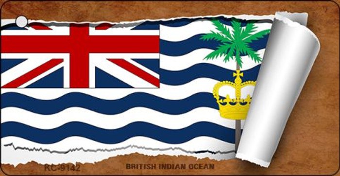 British Indian Ocean Flag Scroll Novelty Key Chain