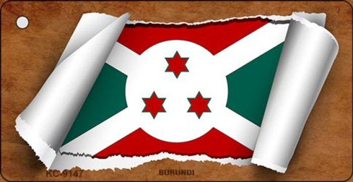 Burundi Flag Scroll Novelty Key Chain