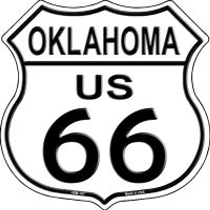 Route 66 Oklahoma Highway Shield Novelty Metal Magnet HSM-107