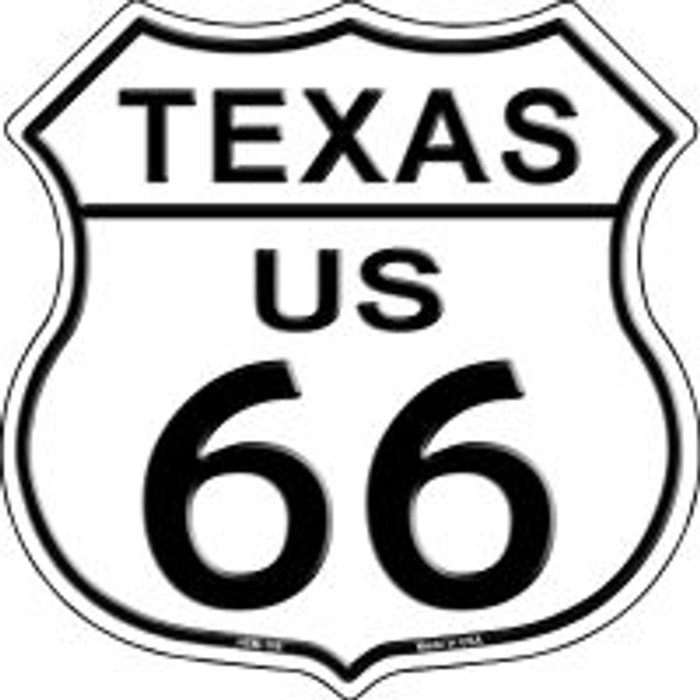 Route 66 Texas Highway Shield Novelty Metal Magnet HSM-108