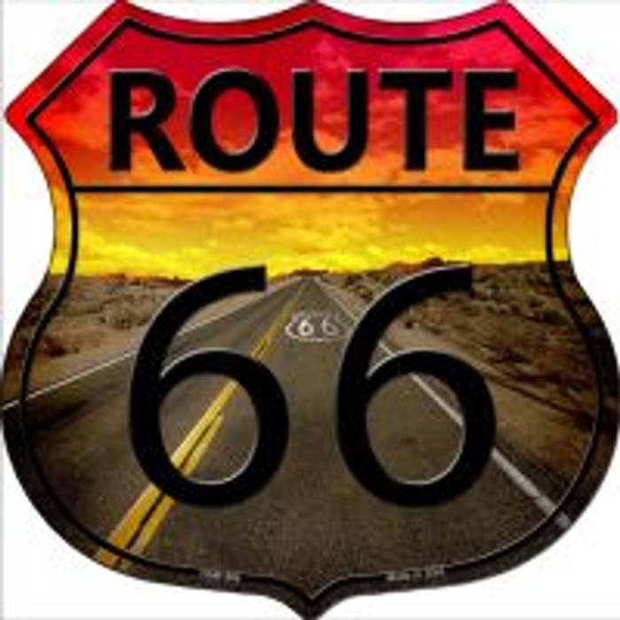 Route 66 Highway Shield Novelty Metal Magnet