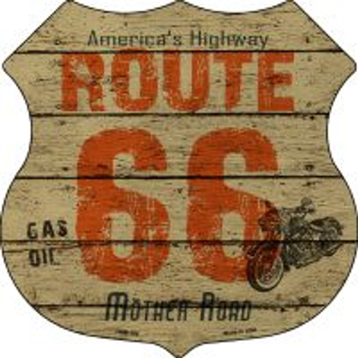 Route 66 America's Highway Shield Novelty Metal Magnet