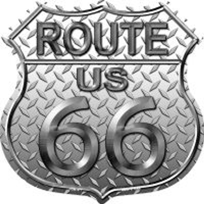 Route 66 Diamond Highway Shield Novelty Metal Magnet