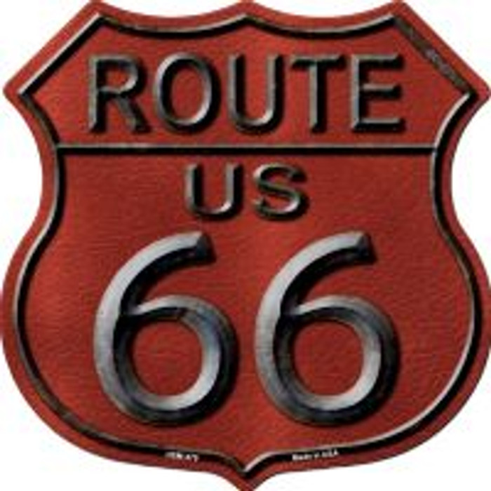 Route 66 Red Highway Shield Novelty Metal Magnet