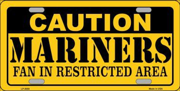 Caution Mariners Fan Metal Novelty License Plate LP-2650