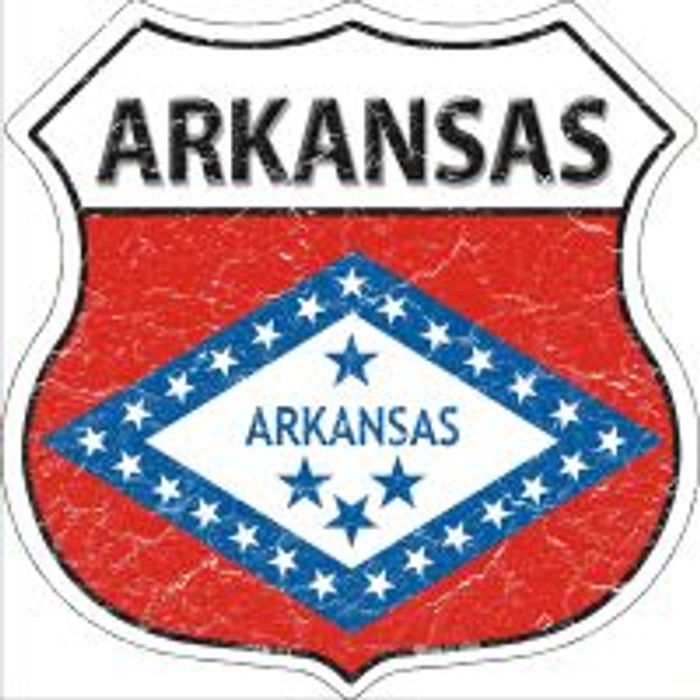 Arkansas State Flag Highway Shield Novelty Metal Magnet