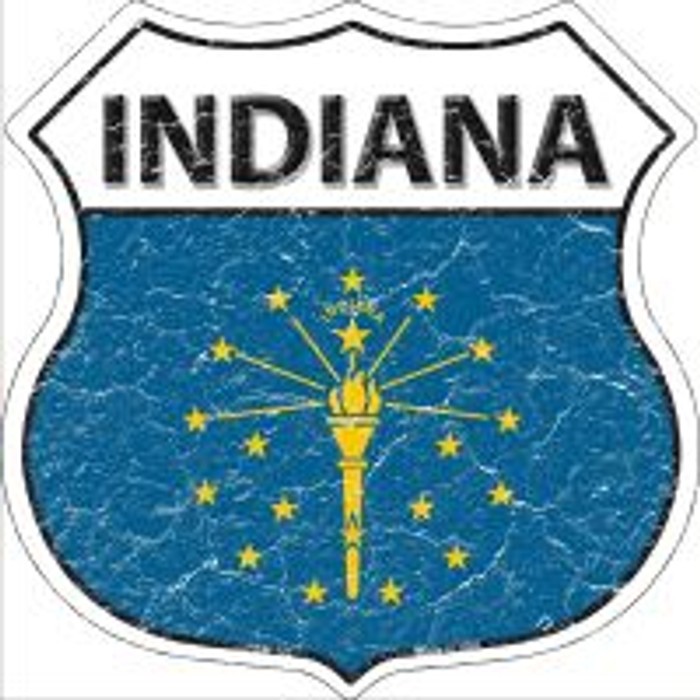 Indiana State Flag Highway Shield Novelty Metal Magnet