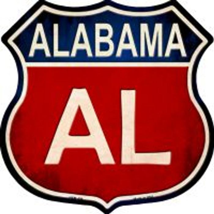 Alabama Highway Shield Novelty Metal Magnet