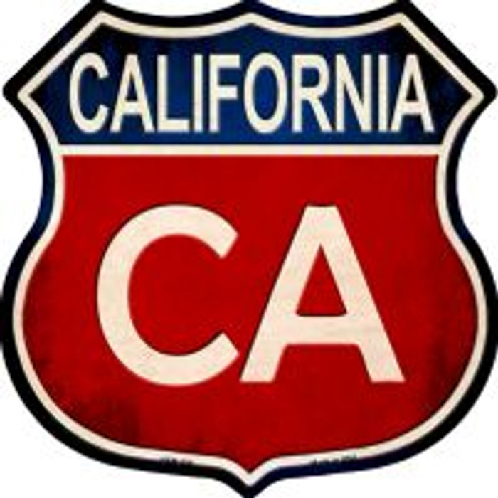 California Highway Shield Novelty Metal Magnet
