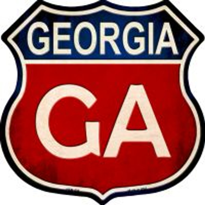 Georgia Highway Shield Novelty Metal Magnet