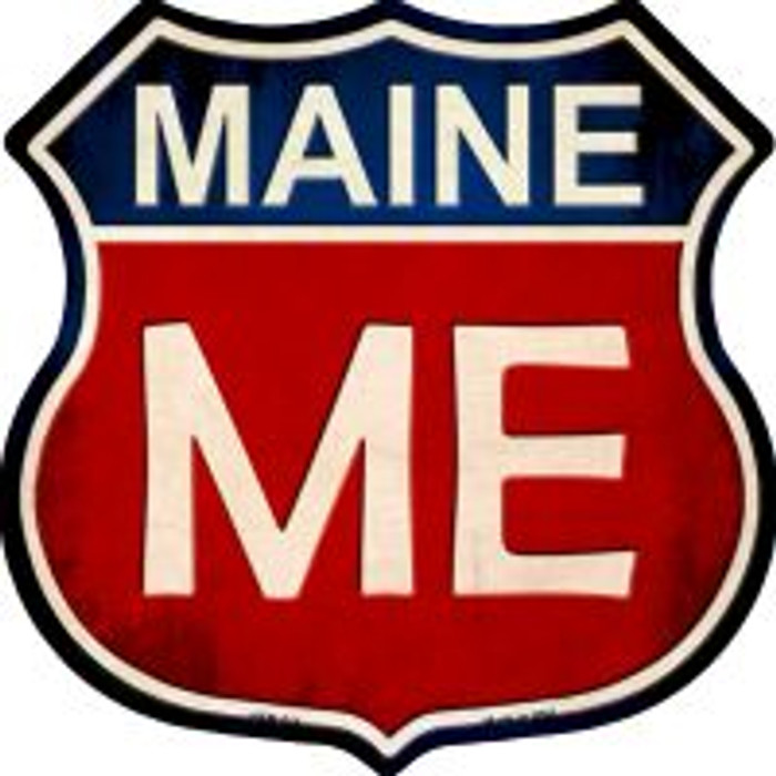 Maine Highway Shield Novelty Metal Magnet