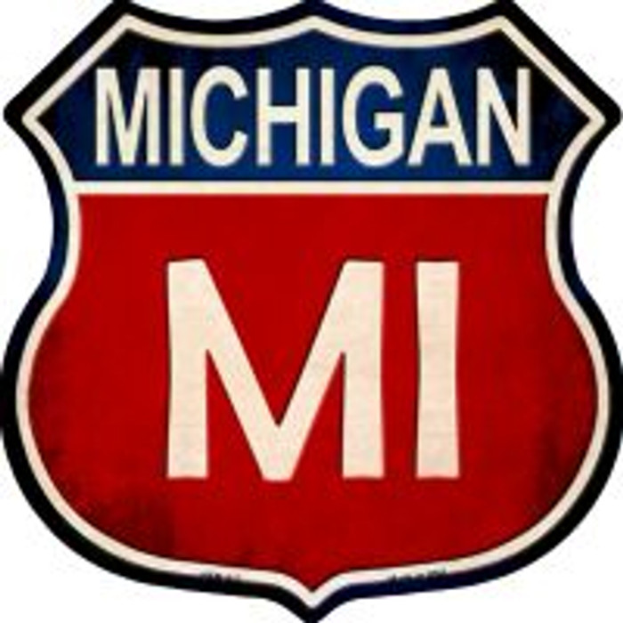 Michigan Highway Shield Novelty Metal Magnet