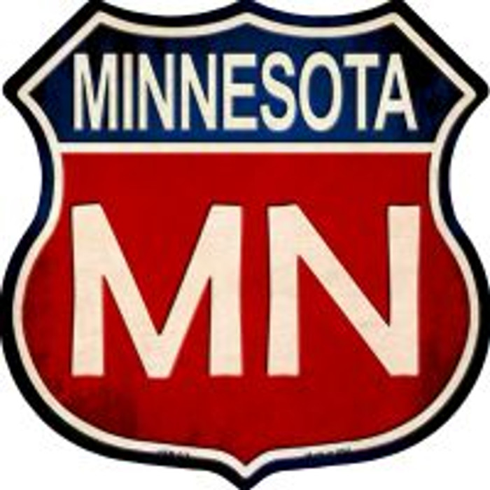 Minnesota Highway Shield Novelty Metal Magnet