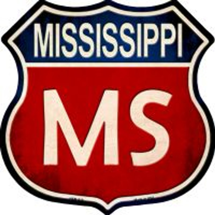 Mississippi Highway Shield Novelty Metal Magnet
