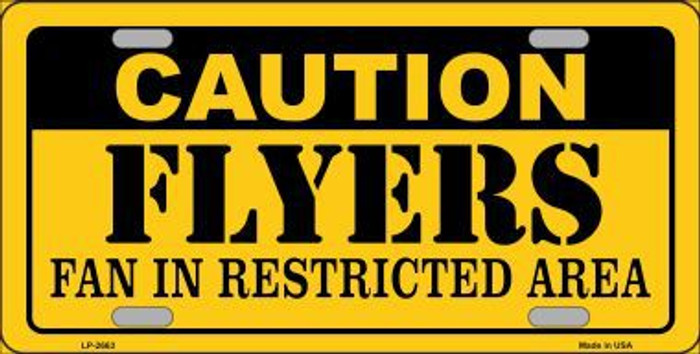 Caution Flyers Metal Novelty License Plate