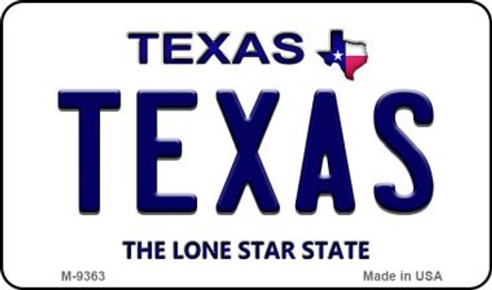 Texas Texas Background Novelty Metal Magnet