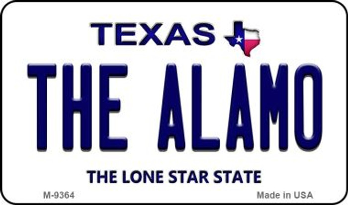 Alamo Texas Background Novelty Metal Magnet