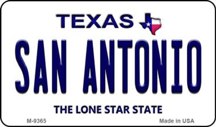 San Antonio Texas Background Novelty Metal Magnet