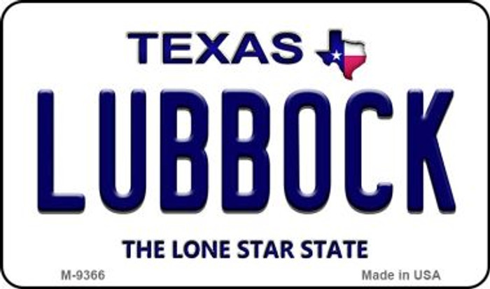 Lubbock Texas Background Novelty Metal Magnet