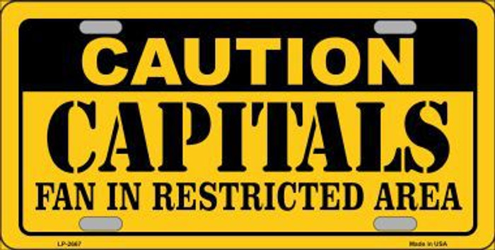 Caution Capitals Metal Novelty License Plate LP-2667