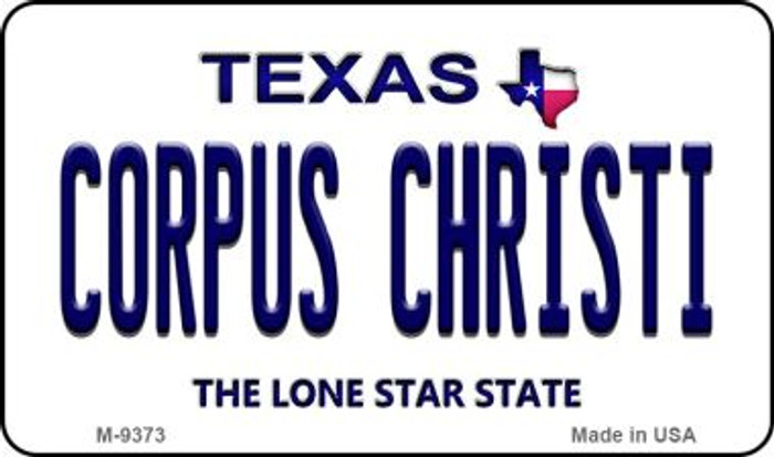 Corpus Christi Texas Background Novelty Metal Magnet