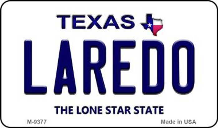 Laredo Texas Background Novelty Metal Magnet