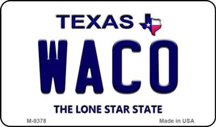 Waco Texas Background Novelty Metal Magnet