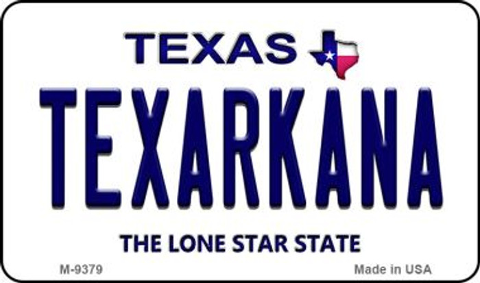 Texarkana Texas Background Novelty Metal Magnet