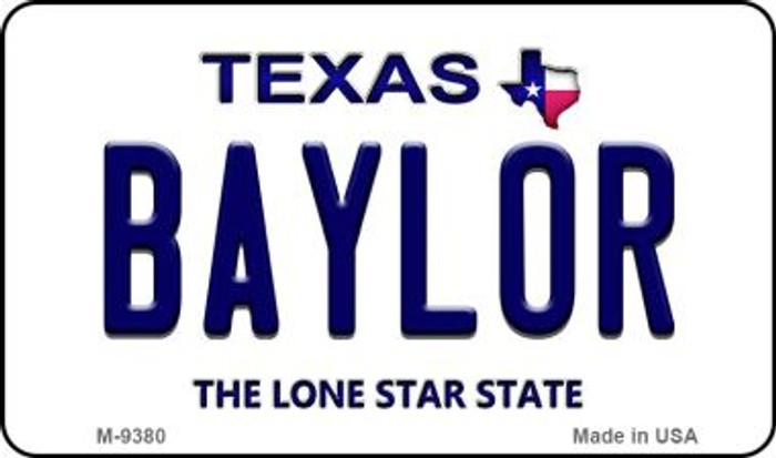 Baylor Texas Background Novelty Metal Magnet