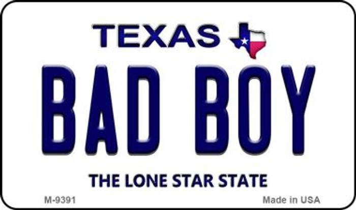Bad Boy Texas Background Novelty Metal Magnet