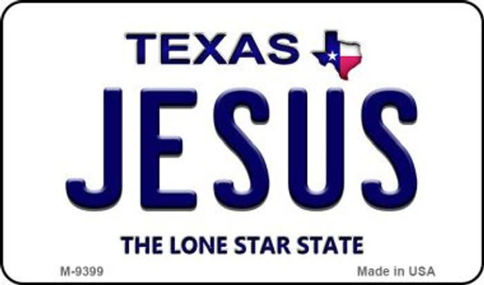 Jesus Texas Background Novelty Metal Magnet