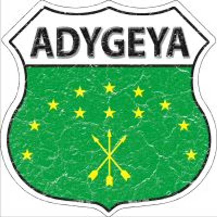 Adygeya Flag Highway Shield Novelty Metal Magnet