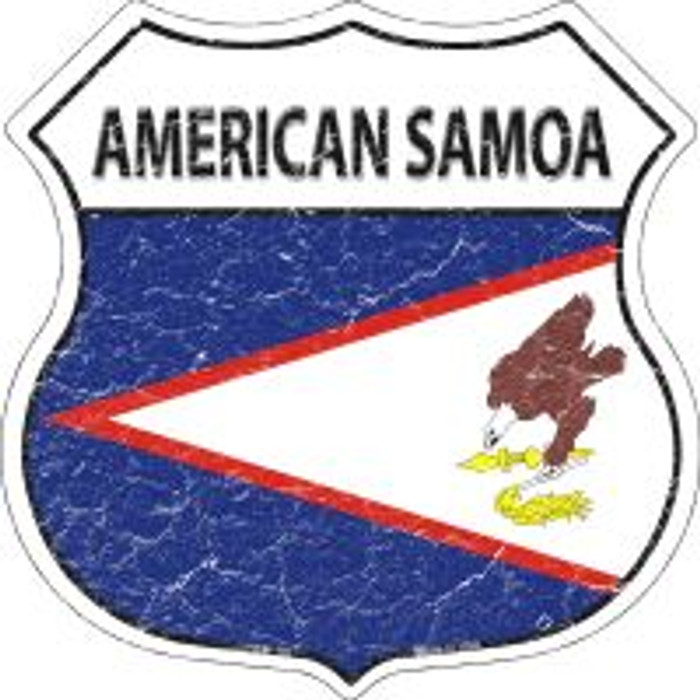 American Samoa Flag Highway Shield Novelty Metal Magnet
