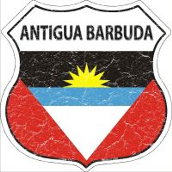 Antigua Barbuda Flag Highway Shield Novelty Metal Magnet