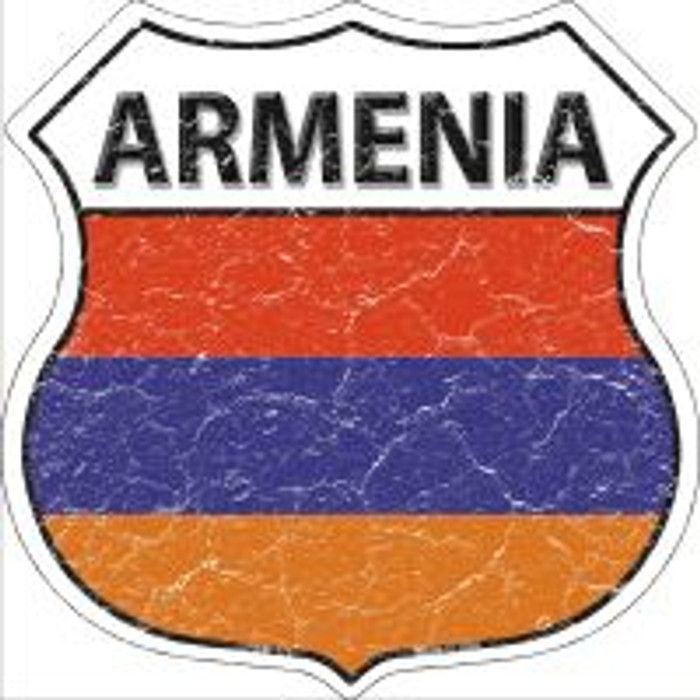 Armenia Flag Highway Shield Novelty Metal Magnet