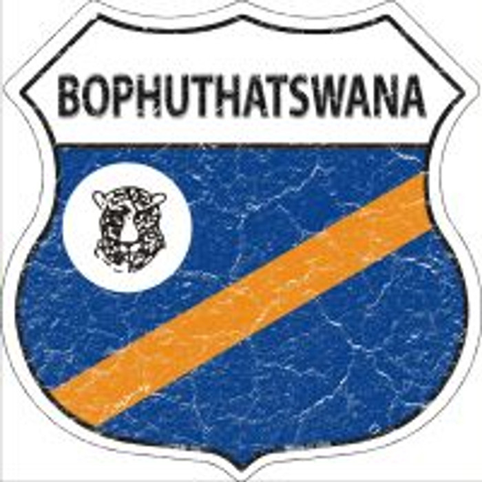 Bophuthatswana Flag Highway Shield Novelty Metal Magnet