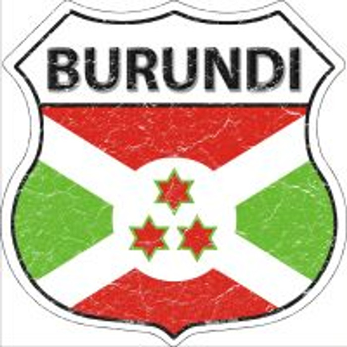 Burundi Flag Highway Shield Novelty Metal Magnet