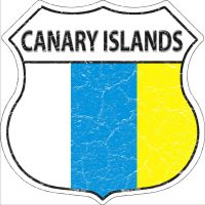 Canary Islands Flag Highway Shield Novelty Metal Magnet