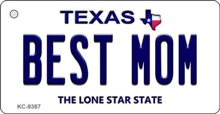 Best Mom Texas Background Novelty Key Chain