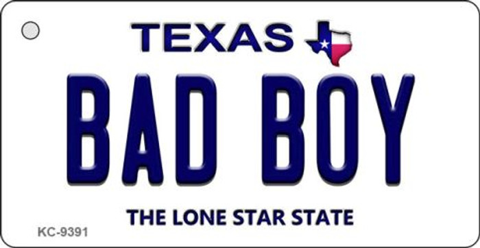 Bad Boy Texas Background Novelty Key Chain