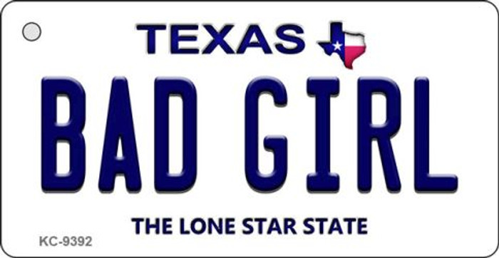 Bad Girl Texas Background Novelty Key Chain