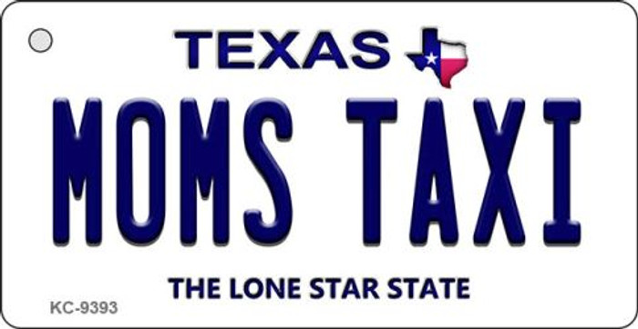 Mom's Taxi Texas Background Novelty Aluminum Key Chain KC-9393