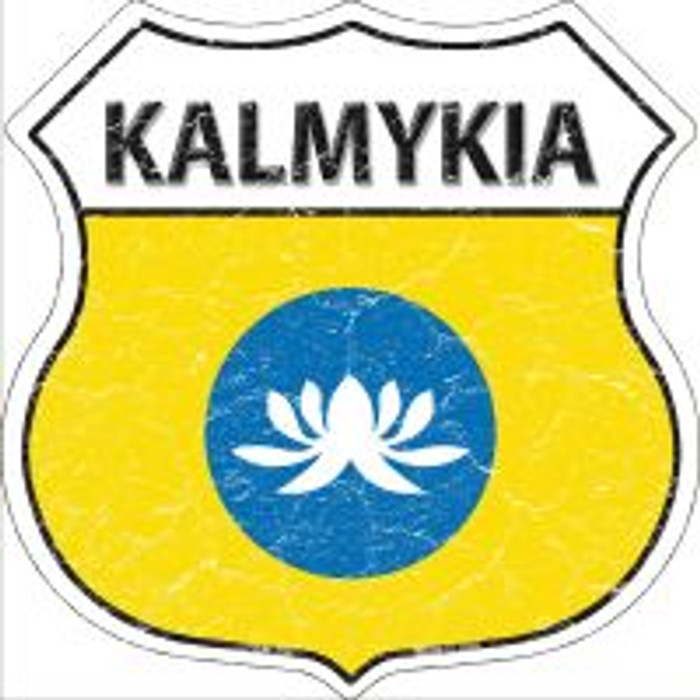 Kalmykia Highway Shield Novelty Metal Magnet