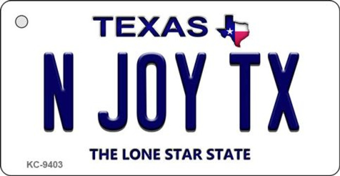 N Joy TX Texas Background Novelty Key Chain