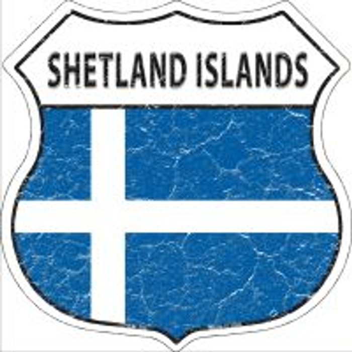 Shetland Islands Highway Shield Novelty Metal Magnet