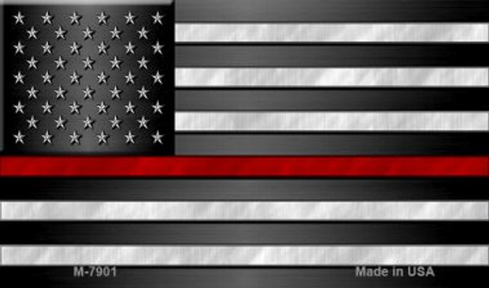 American Flag Thin Red Line Novelty Magnet