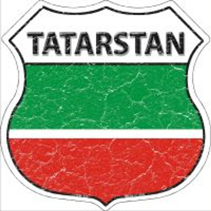 Tatarstan Highway Shield Novelty Metal Magnet
