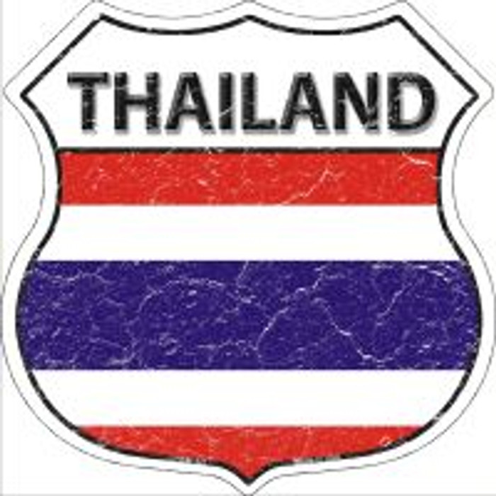 Thailand Highway Shield Novelty Metal Magnet